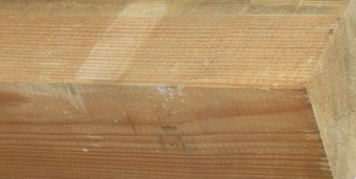 Colour differences can appear on the timber